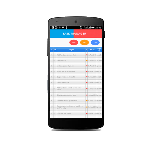 Task Management Software Android App Image